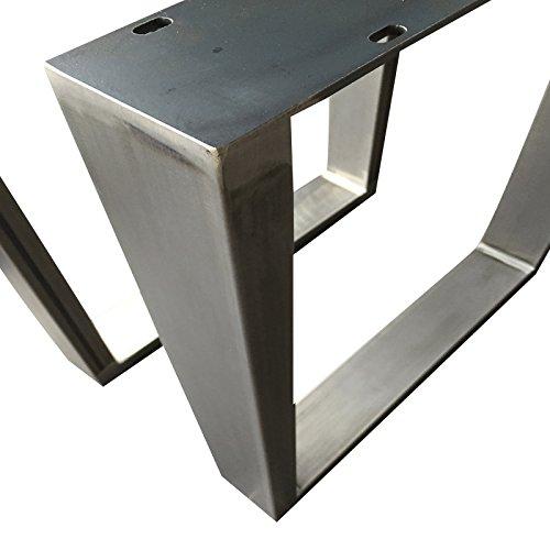 Design Tischgestell Rohstahl TUG 306 Tischuntergestell Tischkufe Kufengestell 1 Paar Neu und OVP