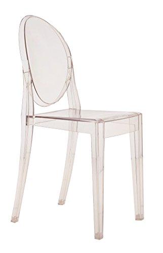 Kartell 4857B4 Stuhl Victoria Ghost glasklar