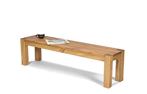 Sitzbank ,,Rio Bonito,, 160x38cm, Bank Pinie Massivholz, geölt und gewachst, Farbton Honig hell, Optional: passende Tische