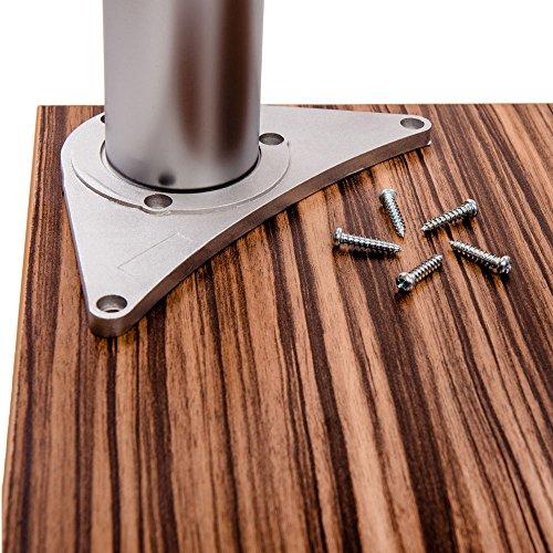 Tischbeine, höhenverstellbar | Sossai® Premium TBAL | Design: Alu | 4 Stück | Montagezubehör inklusive | Höhe: 71 cm (710 mm), einstellbar +2cm