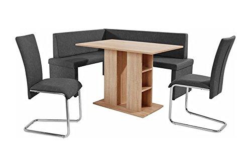 cavadore eckbank rechts mulan moderne sitzbank mit lehne in anthrazit pflegeleichtes. Black Bedroom Furniture Sets. Home Design Ideas