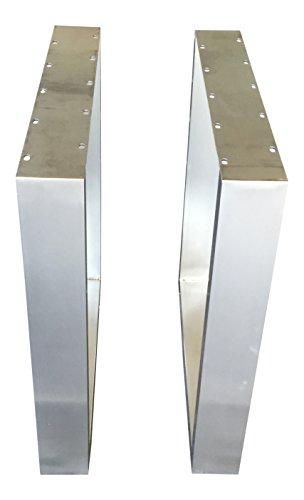 Design Tischgestell Edelstahl TUG 303 Tischuntergestell Tischkufe 1 Stück Kufengestell 63,5 cm x 70 cm Neu und OVP