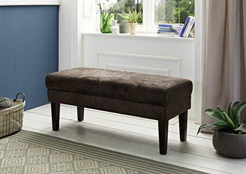 Cavadore 4542 Sitzbank 2-sitzig Zusammensetzbar, Schaumstoff, braun, 120 x 53 x 52 cm