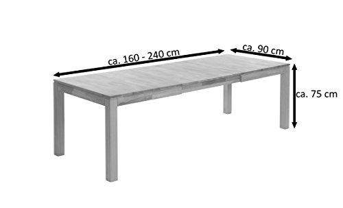 SAM® Esszimmer Ausziehtisch, Holm, 160 - 200 - 240 x 90 cm, aus Wildeiche, geölt, Esszimmertisch