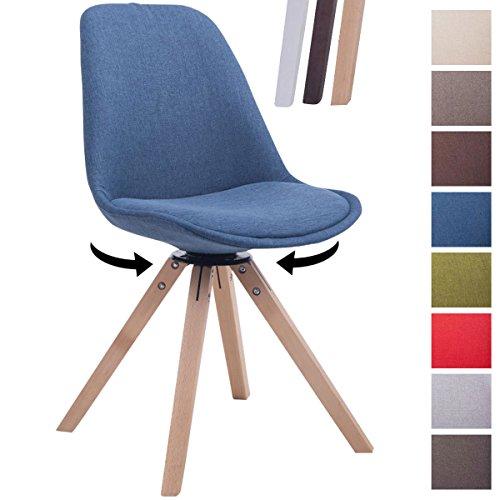 CLP Design Retro-Stuhl TROYES SQUARE, Stoff-Sitz gepolstert, drehbar