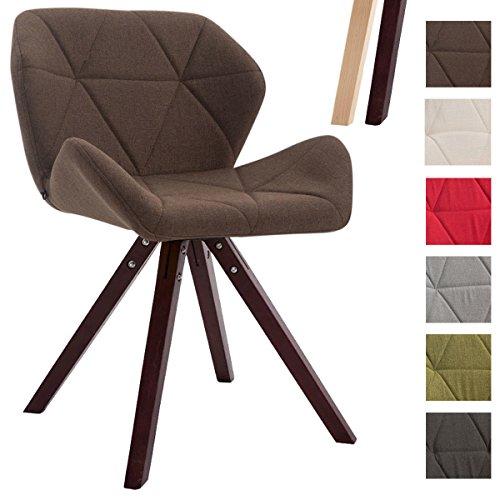 CLP Design Retro-Stuhl TYLER, Bein-Form square, Stoff-Sitz gepolstert, Buchenholz-Gestell,