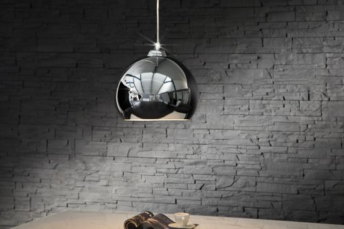 Invicta Interior Chromagon Exclusive Designer Hängeleuchte chrom-optik 30 cm