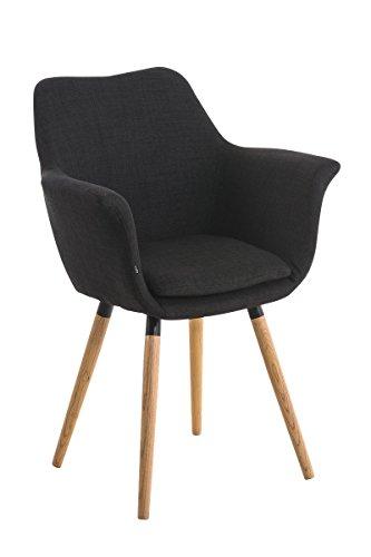 clp besucher stuhl vance holzgestell stoff bezug polsterstuhl mit armlehne schwarz 1. Black Bedroom Furniture Sets. Home Design Ideas
