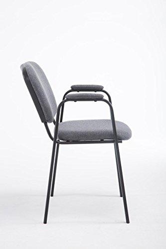 clp besucher stuhl ken pro mit gepolsterter armlehne stoff bezug warteraumstuhl. Black Bedroom Furniture Sets. Home Design Ideas