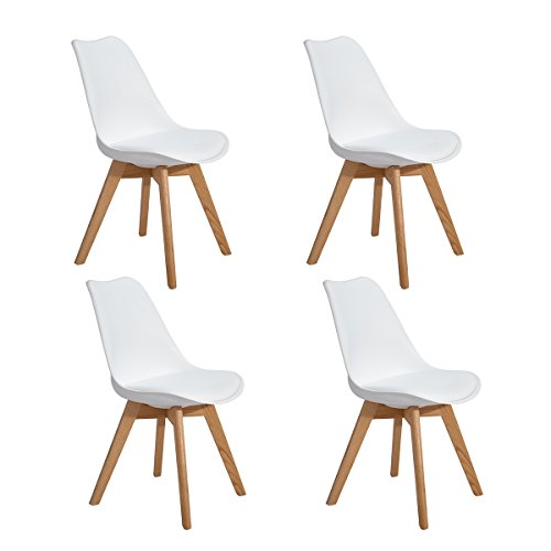 4er set esszimmerst hle mit massivholz eiche bein retro. Black Bedroom Furniture Sets. Home Design Ideas
