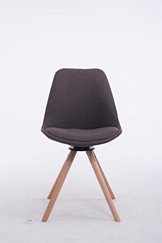 clp design retro stuhl troyes rund stoff sitz gepolstert. Black Bedroom Furniture Sets. Home Design Ideas
