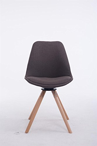 clp design retro stuhl troyes rund stoff sitz gepolstert drehbar dunkelgrau holzgestell. Black Bedroom Furniture Sets. Home Design Ideas