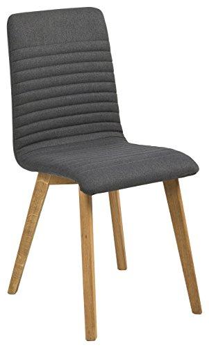 AC Design Furniture 64835 Esszimmerstuhl, Stoff, anthrazit, 43 x 42 x 90 cm