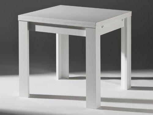 Küchentisch Ausziehtisch weiß 80x80cm