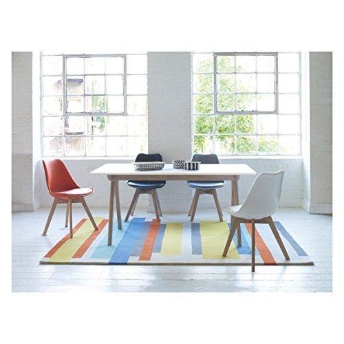 ajie set von 4 st hle 52x48x82cm trend skandinavischen retro design gepolsterter lstuhl. Black Bedroom Furniture Sets. Home Design Ideas