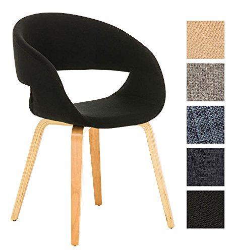 clp besucher stuhl pano mit armlehne gepolstert holzgestell modern schwarz esszimmerst. Black Bedroom Furniture Sets. Home Design Ideas