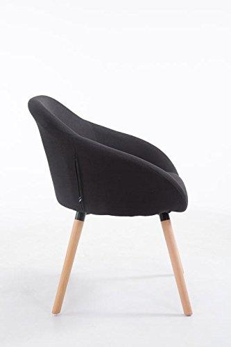 clp besucher stuhl hamburg mit armlehne max belastbarkeit 150 kg holz gestell stoff bezug. Black Bedroom Furniture Sets. Home Design Ideas