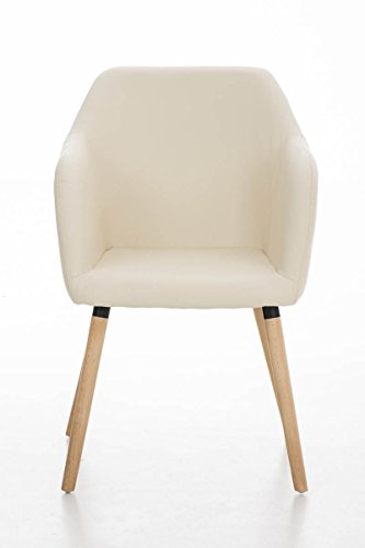 clp besucher design stuhl picard holzgestell sitzfl che gut gepolstert modern creme. Black Bedroom Furniture Sets. Home Design Ideas