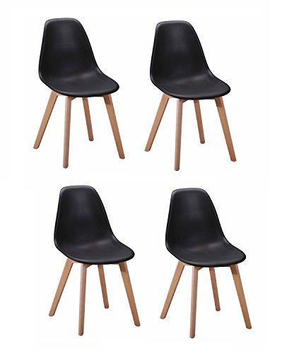 4 st hle skandinavisches design ergonomisch geformte for Design stuhl range