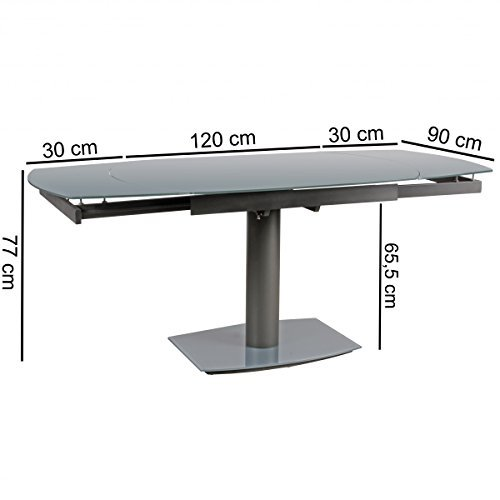 Esszimmer le 120 cm esstisch tisch esszimmer glas 120 cm s 228 ulentisch wohnling esszimmer - Zigarettenrauch entfernen zimmer ...