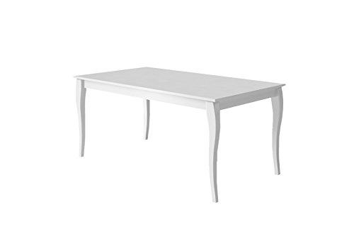 cavadore esszimmertisch matilda moderner esstisch in hochglanz wei lackiertem holz mit. Black Bedroom Furniture Sets. Home Design Ideas