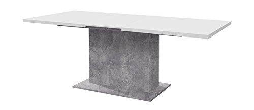 esstisch esszimmertisch k chentisch 62741 s ulentisch 160 200x90cm betonoptik lichtgrau wei. Black Bedroom Furniture Sets. Home Design Ideas