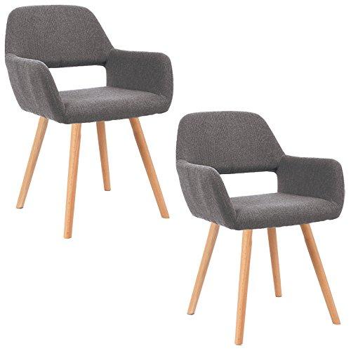mctech 2x stuhl esszimmerst hle esszimmerstuhl stuhlgruppe konferenzstuhl k chenstuhl armlehne. Black Bedroom Furniture Sets. Home Design Ideas