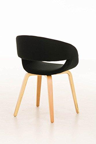 clp besucher stuhl pano mit armlehne gepolstert holzgestell modern schwarz 3. Black Bedroom Furniture Sets. Home Design Ideas