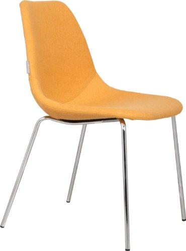Zuiver Fünfzehn 1100043Stuhl–47x 49x 82cm–Chrom Beine mit Gelb Sitz