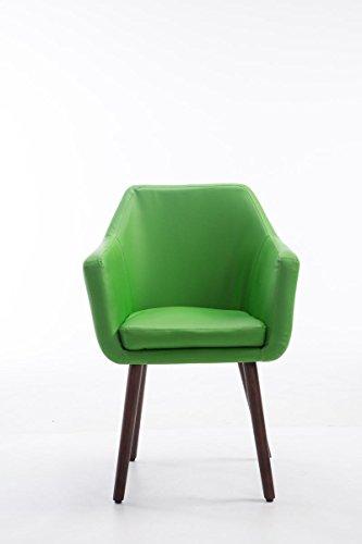 Clp besucher stuhl utrecht max belastbarkeit 150 kg for Stuhl mit armlehne kunstleder