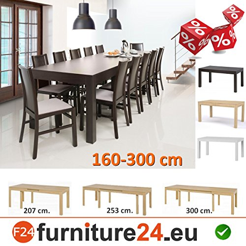 tisch k chentisch esszimmertisch esstisch wenus ausziehbar 300 cm wenge esszimmerst. Black Bedroom Furniture Sets. Home Design Ideas