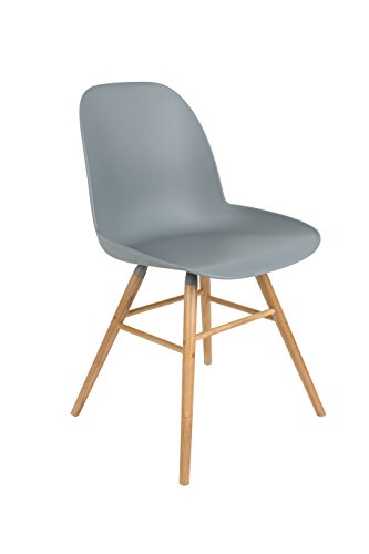 Zuiver 1100294 Chair Albert Kuip Set of 2, polypropylene, light grau, 55 x 49 x 81.5 cm