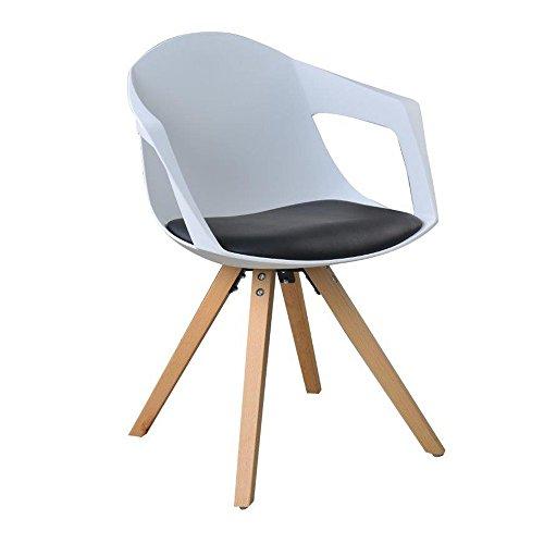 lot de 2 st hle a nordischen skandinavisches holz mit. Black Bedroom Furniture Sets. Home Design Ideas