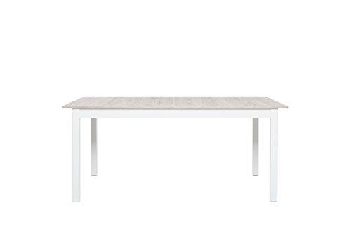 Intertrade Schweden 2, Esstisch, Holzdekor, sorrento eiche / weiß, 210 x 90 x 75 cm
