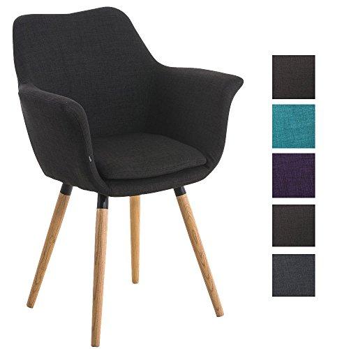 clp besucher stuhl vance holzgestell stoff bezug polsterstuhl mit armlehne schwarz. Black Bedroom Furniture Sets. Home Design Ideas