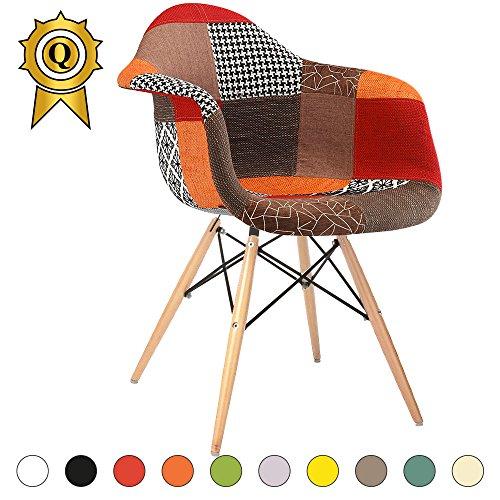 Promo 1x Sessel Design modernen skandinavischen Füße aus Holz natur mobistyl® dawl-m1 Automn Patchwork
