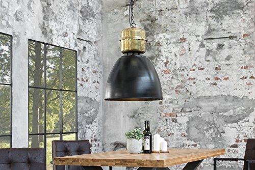 industrie h ngeleuchte factory l 40cm schwarz messing used look industrielampe industrieleuchte. Black Bedroom Furniture Sets. Home Design Ideas