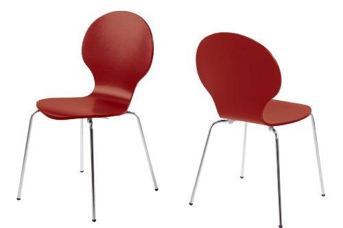 ac design furniture h000007180 esszimmerstuhl 4 er set jacob design klassiker dunkelrot. Black Bedroom Furniture Sets. Home Design Ideas