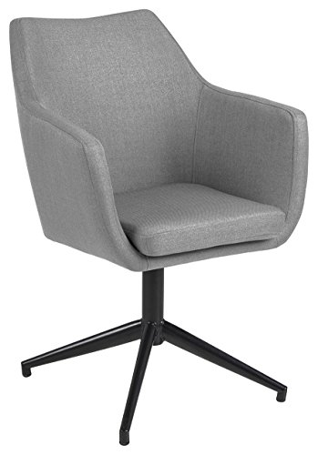 AC Design Furniture Trine Esszimmerstuhl, Stoff, hellgrau, 57 x 58 x 83,5 cm