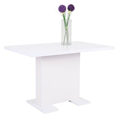 s ulentisch julia ii holzwerkstoff dekor wei glanz ausziehbar 120 160 x 80 x 75 cm apollo. Black Bedroom Furniture Sets. Home Design Ideas