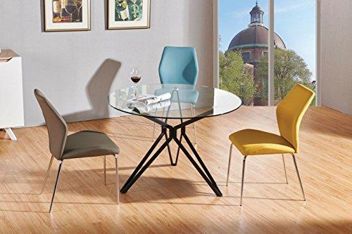 esstisch daures 65 rund farbe glas schwarz durchmesser 120 cm esszimmerst. Black Bedroom Furniture Sets. Home Design Ideas