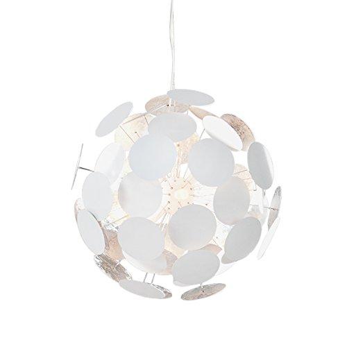 design h ngeleuchte infinity weiss silber pendelleuchte lampe beleuchtung esszimmerst. Black Bedroom Furniture Sets. Home Design Ideas
