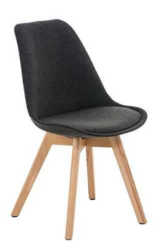 besucherstuhl borneo stoff natura dunkelgrau esszimmerst. Black Bedroom Furniture Sets. Home Design Ideas