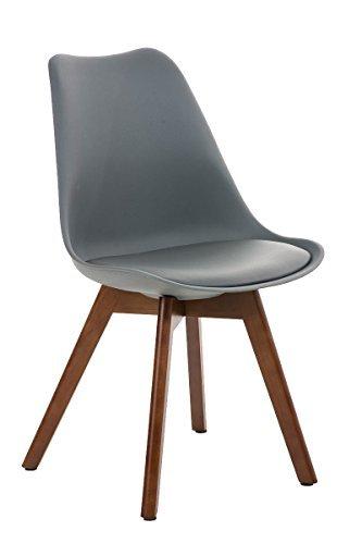 besucherstuhl borneo walnuss grau esszimmerst hle. Black Bedroom Furniture Sets. Home Design Ideas