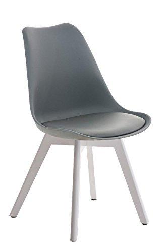 besucherstuhl borneo wei grau esszimmerst. Black Bedroom Furniture Sets. Home Design Ideas