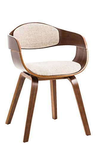 besucherstuhl kingston stoff walnuss creme 0 esszimmerst. Black Bedroom Furniture Sets. Home Design Ideas