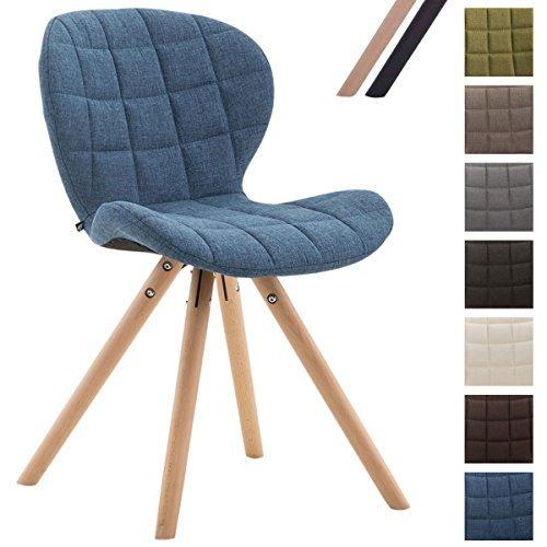 clp design retro stuhl alyssa bein form rund stoff sitz gepolstert lounge sessel buchenholz. Black Bedroom Furniture Sets. Home Design Ideas