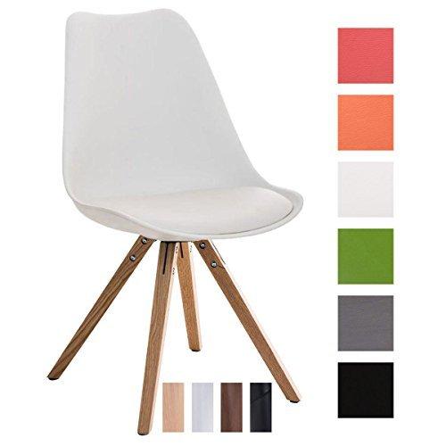 clp design retro stuhl pegleg square r ckenlehne kunststoff sitz gepolstert kunstleder bezug. Black Bedroom Furniture Sets. Home Design Ideas