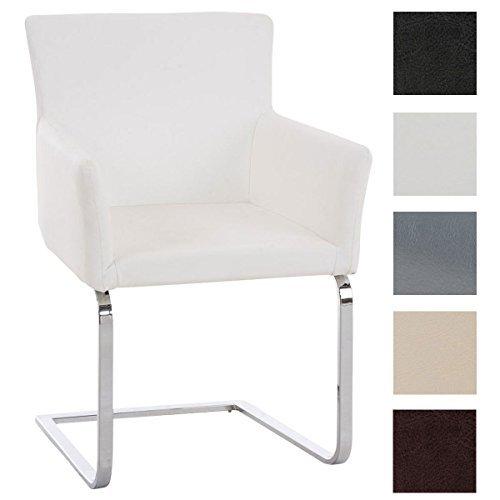 Clp freischwinger stuhl pirus mit armlehne gepolstert for Stuhl mit armlehne kunstleder