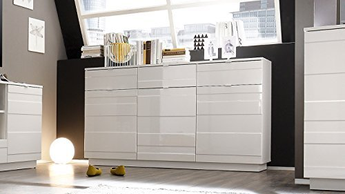 design sideboard relief 165cm wei hochglanzfront 3d optik esszimmerst. Black Bedroom Furniture Sets. Home Design Ideas
